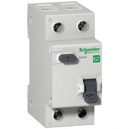 Выключатель автоматический дифференциального тока 2п (1P+N) C 10А 30мА тип AC 4.5кА EASY9 2мод. SchE EZ9D34610