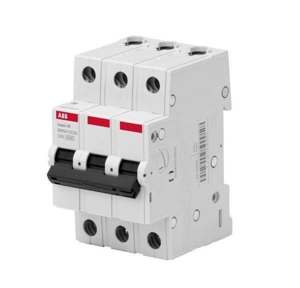 Выключатель авт. мод. 3п С 32А 4.5кА Basic M BMS413C32 ABB 2CDS643041R0324