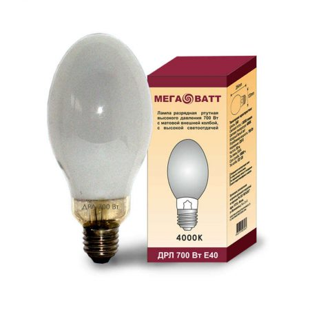 Лампа газоразрядная ртутная ДРЛ 700 E40 (15) МЕГАВАТТ 03062