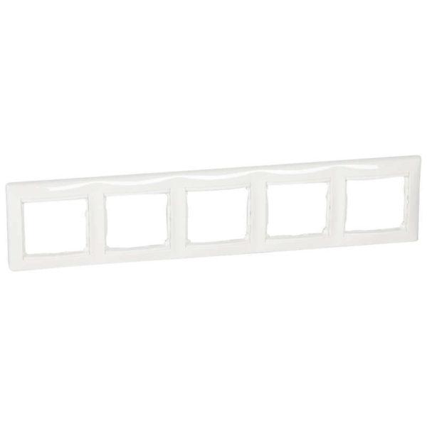 Рамка 5-м Valena горизонт. бел. Leg 774455