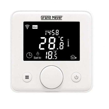 Термостат прогр. W330 с функцией Wi-Fi (Android/iOS) датчик пола; датчик воздуха 3.6кВт 16А бел. Grand Meyer W330