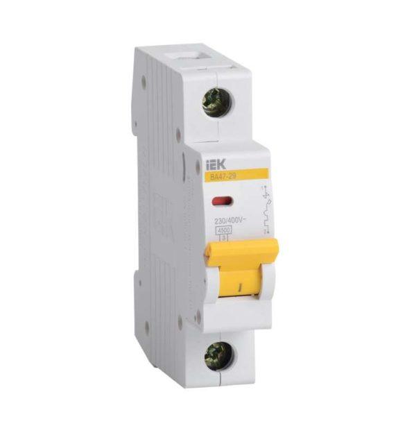 Выключатель автоматический модульный 1п B 6А 4.5кА ВА47-29 ИЭК MVA20-1-006-B