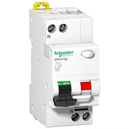 Выключатель автоматический дифференциального тока 2п (1P+N) C 6А 30мА тип AC 6кА DPN VIGI N SchE A9N19661