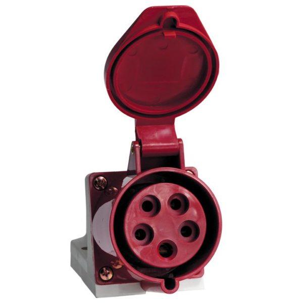 Розетка наруж. уст. 32А 380В 3P+РЕ+N IP44 (125) EKF ps-125-32-380