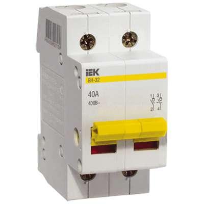 Выключатель нагрузки ВН-32 32А/2П ИЭК MNV10-2-032