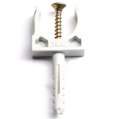 Держатель для труб (клипса) d20мм+дюбель с винтом DKC 51320