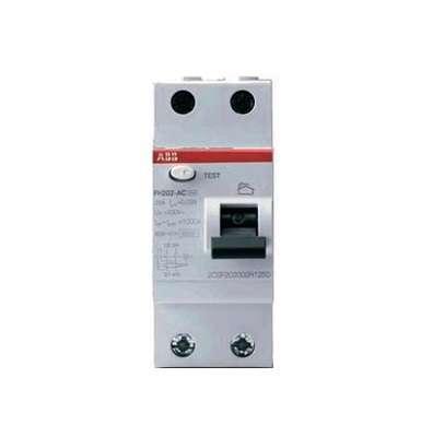 Выключатель дифференциального тока (УЗО) 2п 25А 30мА тип AC FH202 ABB 2CSF202004R1250