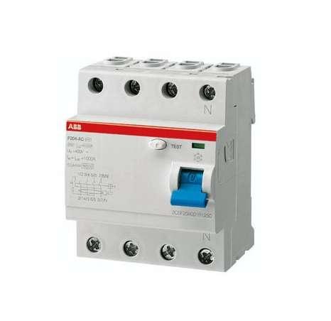Выключатель дифференциального тока (УЗО) 4п 40А 300мА тип AC F204 ABB 2CSF204001R3400