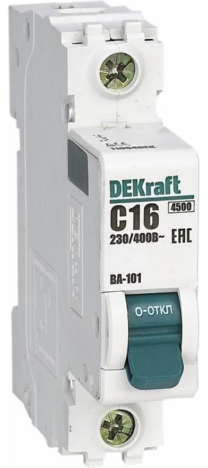 Выключатель автоматический модульный 1п C 20А 4.5кА ВА-101 SchE 11055DEK
