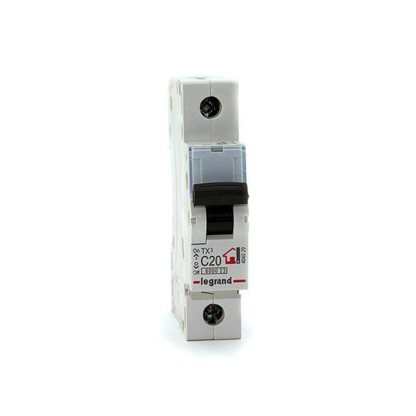 Выключатель автоматический модульный 1п C 20А 6кА TX3 Leg 404029