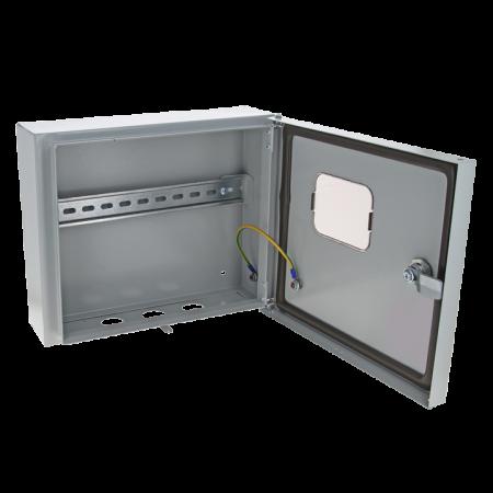 Щит ЩУ-1/1-0 (250х300х100) счетчик на DIN-рейку IP54 EKF mb54-1E