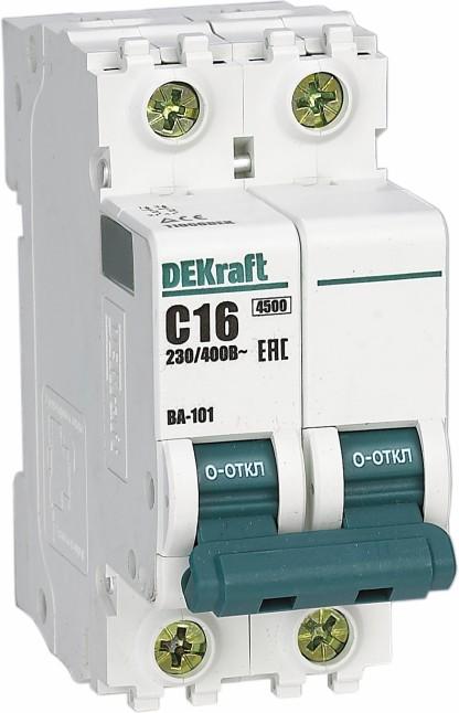 Выключатель автоматический модульный 2п C 10А 4.5кА ВА-101 SchE 11065DEK