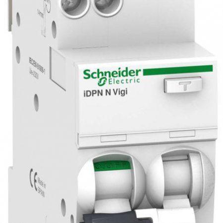 Выключатель автоматический дифференциального тока 2п (1P+N) C 10А 30мА тип AC 6кА iDPN N VIGI Acti9 SchE A9D31610