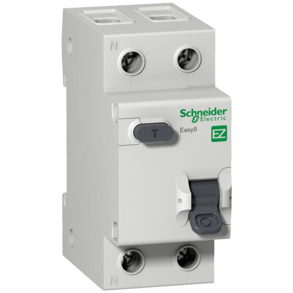 Выключатель автоматический дифференциального тока 2п (1P+N) C 40А 30мА тип AC 4.5кА EASY9 2мод. SchE EZ9D34640