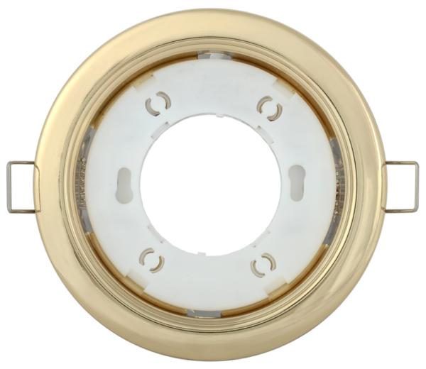 Светильник встраиваемый под лампу GX53 золото ИЭК LUVB0-GX53-1-K22