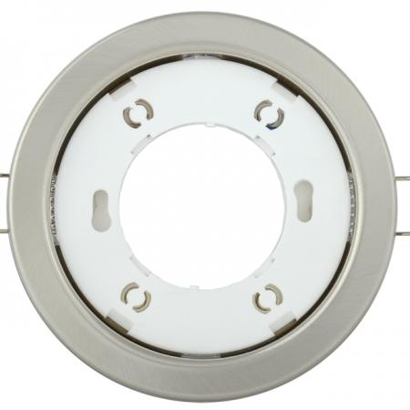Светильник встраиваемый под лампу GX53 хром матовый ИЭК LUVB0-GX53-1-K27