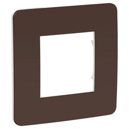 Рамка 1-м UNICA STUDIO шоколад/бел. SchE NU280216