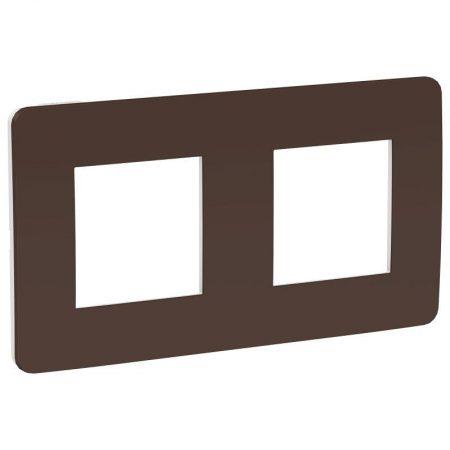 Рамка 2-м UNICA STUDIO шоколад/бел. SchE NU280416