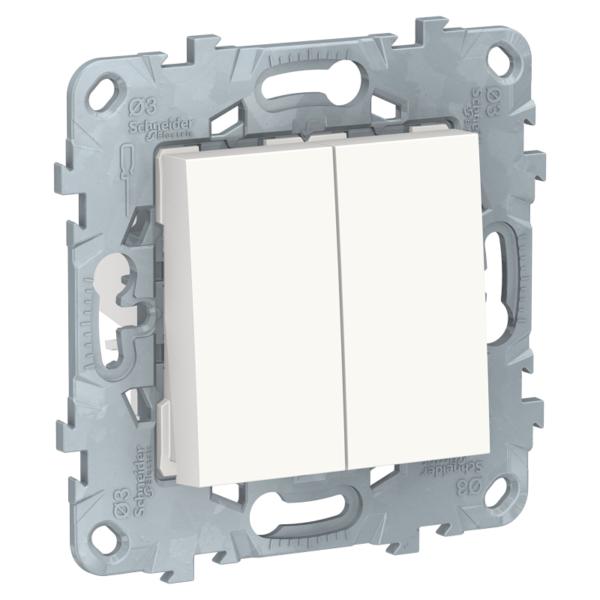 Переключатель 2-кл. UNICA NEW перекрестный 2x(сх.7) 10AX 250В бел. SchE NU521518