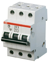 Выключатель автоматический модульный 3п C 20А 6кА S203 ABB 2CDS253001R0204