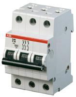 Выключатель автоматический модульный 3п C 6А 6кА S203 ABB 2CDS253001R0064